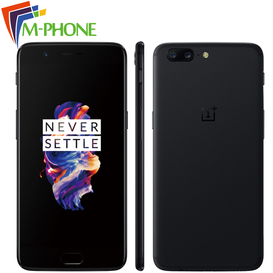 Original Oneplus 5 Oneplus5 5.5inch Snapdragon 835 Octa Core 6GB 64GB Mobile Phone 16MP+20MP 3300mAh NFC Fingerprint Smart Phone