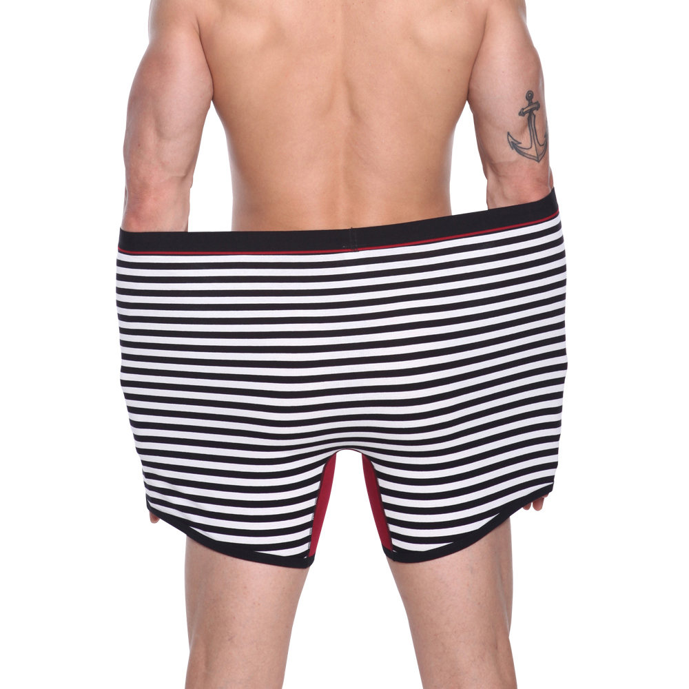 4Pcs High Quality Men's Cotton Long Boxers Shorts 2