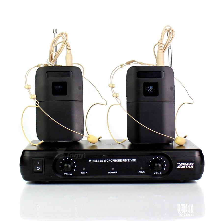 Double oreillette Invisible casque sans fil Microphone micro karaoké Mike Double canaux récepteur sans fil émetteur BLX1