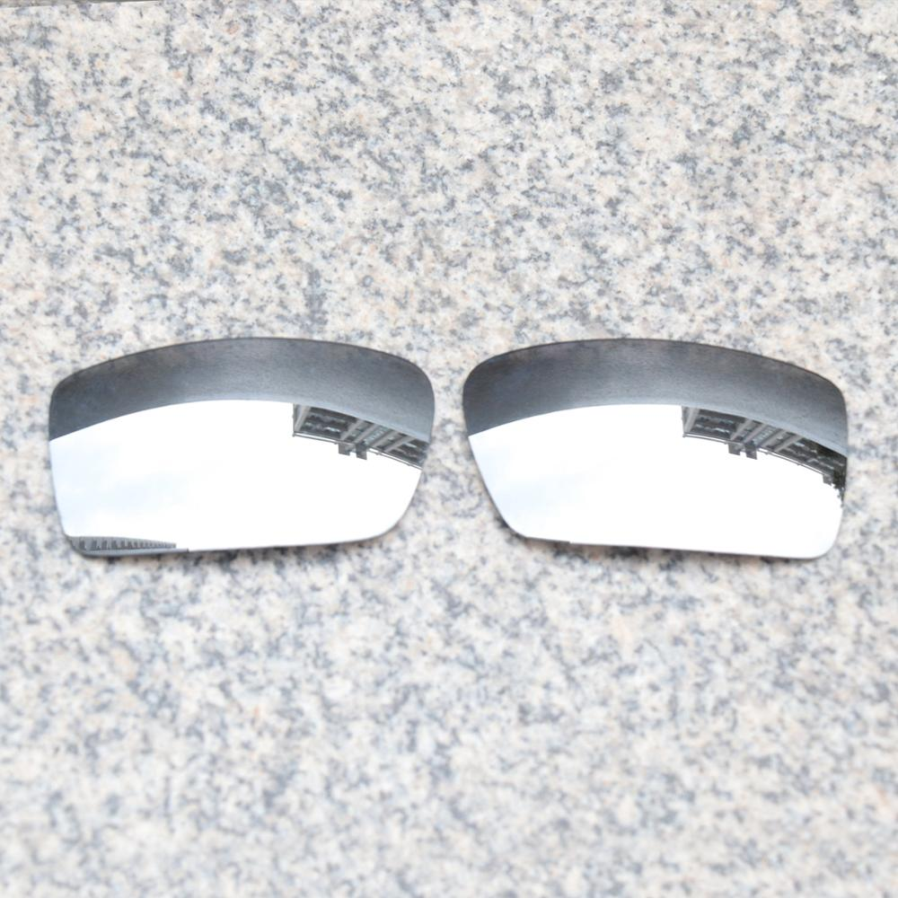 Wholesales E.O.S Polarized Enhanced Replacement Lenses for Oakley Gascan Sunglasses - Silver Chrome Polarized Mirror