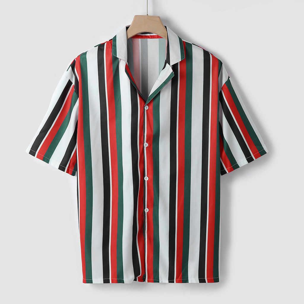 Брендовая летняя гавайская рубашка с отложным воротником, гавайская Мужская рубашка с коротким рукавом, Повседневная пляжная гавайская рубашка, бесплатная доставка