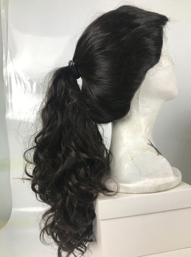 Tsingtaowigs, ligeira onda virgem do cabelo Europeu peruca judaica desgaste ponyail, silk top kosher peruca, melhor Sheitels frete grátis