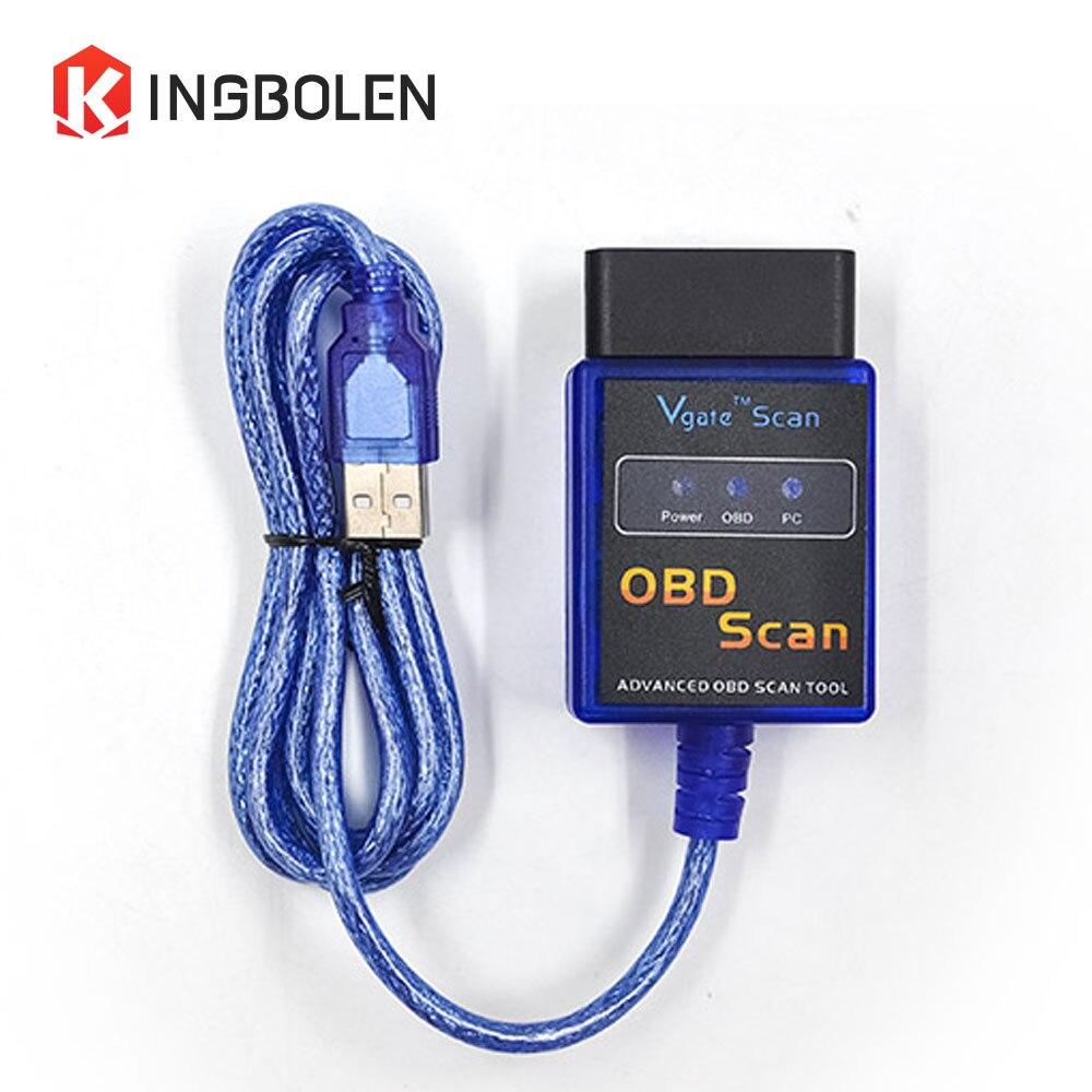 Prix pour Vgate Scan ELM327 USB interface PIC18F25K80 Puce Auto Lecteur de Code OBD2 OBDII Voiture outil De Diagnostic interface ELM 327 USB ELM327