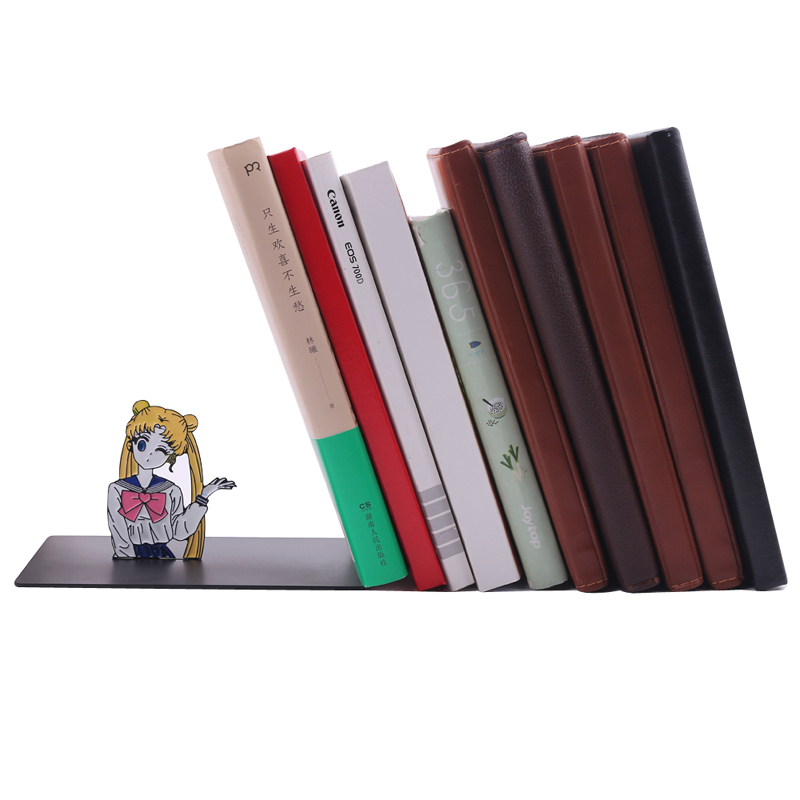 New Sailor Moon Metal Bookends Book Stopper Holder High Quality Exquisite Study Decoration Student Reading Fetish GiftNew Sailor Moon Metal Bookends Book Stopper Holder High Quality Exquisite Study Decoration Student Reading Fetish Gift