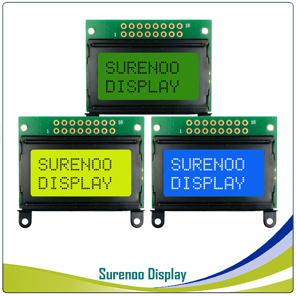 5PCS X 8*2 0802 8X2 Character LCD Module Display Screen LCM With / Without Backlight Build-in SPLC780D Controller