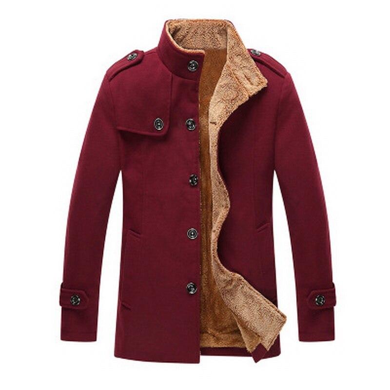 Uwback 2017 New Brand Winter Coat Men Thick Wool Coat Man Plus ...