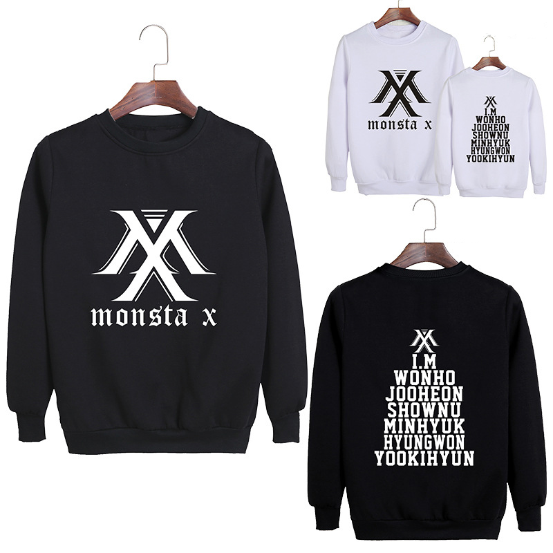 MONSTA X Same Paragraph I.M Round Neck Loose Sweater Women's Casual Sportswear Dropshipping