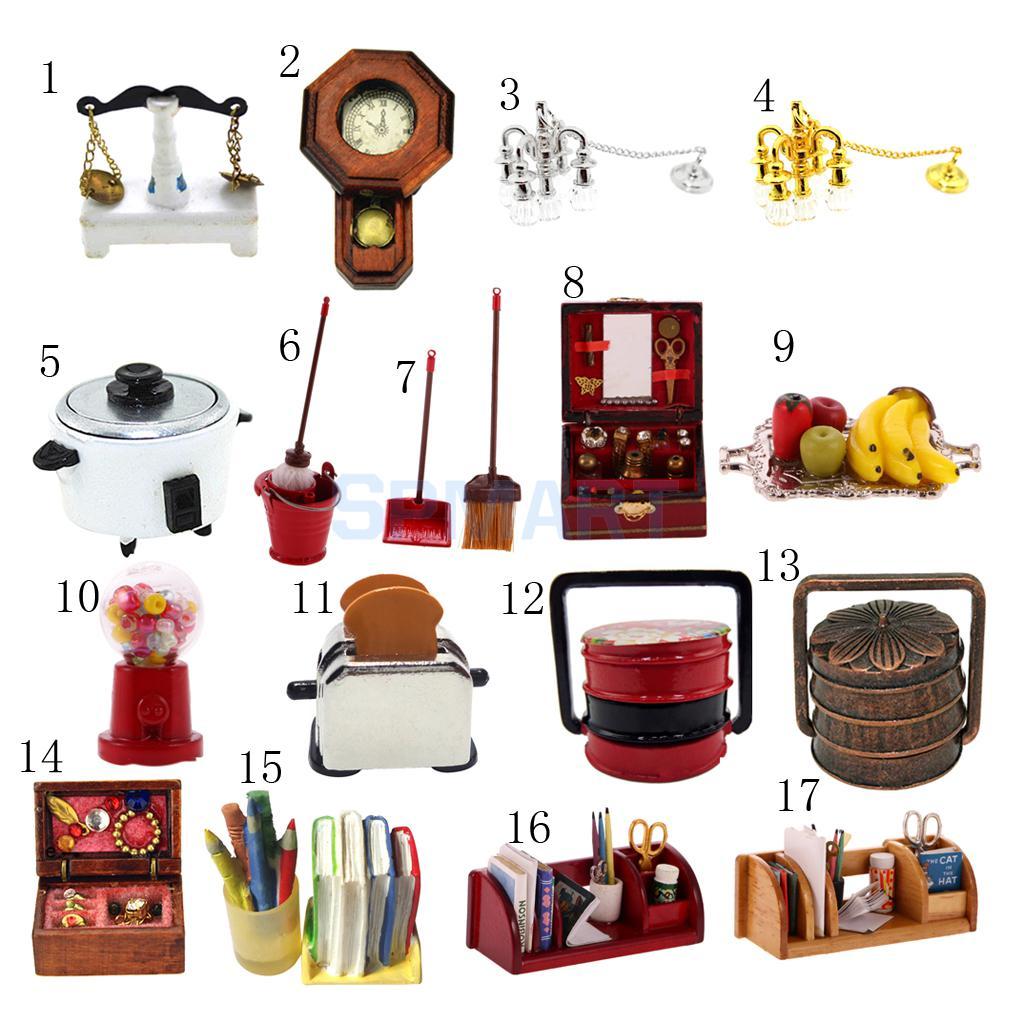 Kitchen Fittings Companies In Botswana: 1:12 Dollhouse Miniature Furniture Living Room Kitchen