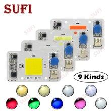 Smart IC 20 Вт 30 Вт 50 Вт теплый натуральный белый красный зеленый синий полный спектр AC220V светодиодный лампы чип открытый светодиодный светать прожектор