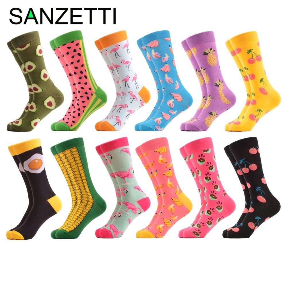 SANZETTI 12 जोड़े / बहुत रंगीन - पुरुषों के कपड़े