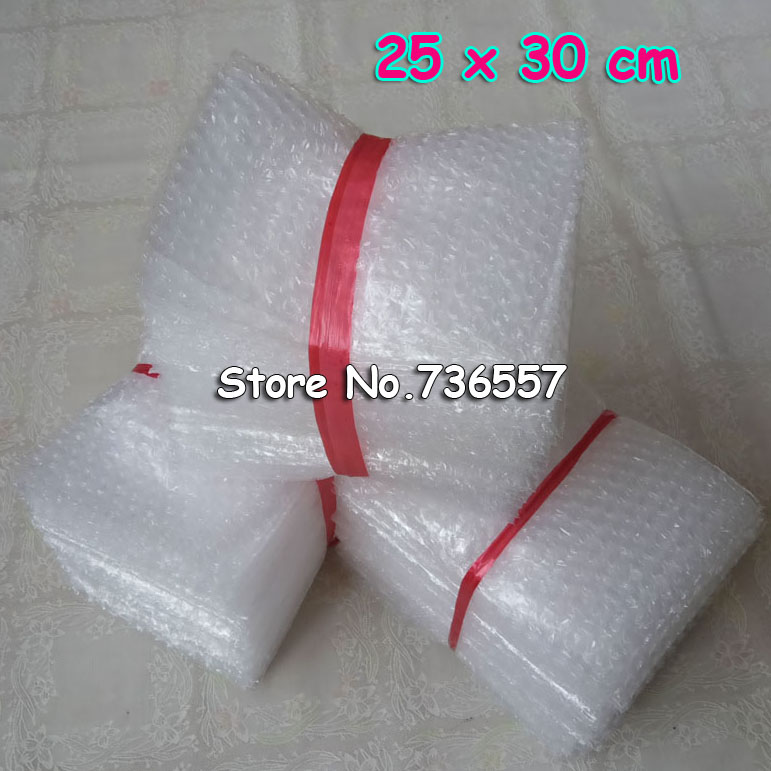 25x30cm 100pcs New Bubble Envelopes Wrap Bags/ Anti-static Pouches/ White Color PE Mailer Packing Bag Free Shipping