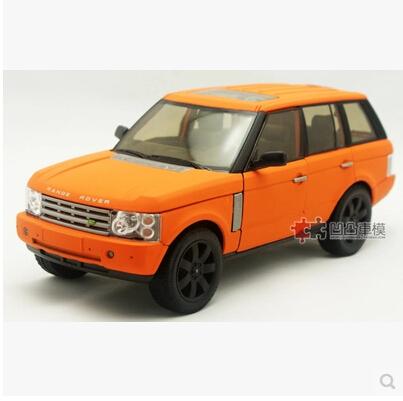 Range Rover 1:24 welly FX Original juguete modelo de simulación de aleación de coche Negro Mate SUV De Lujo Colección Deporte
