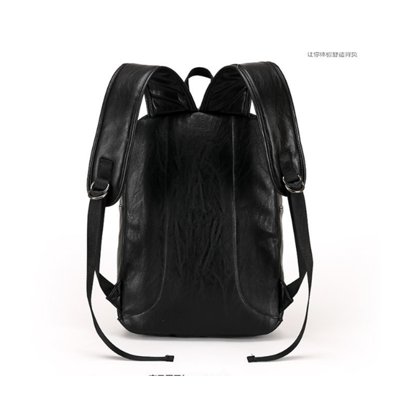 Famous Brand Preppy Style Leather School Backpack Bag For College Simple Design Men Casual Daypacks mochila male New black bags jooz preppy style women leather backpack youth school backpack bag for college vintage bookbags men male casual daypacks