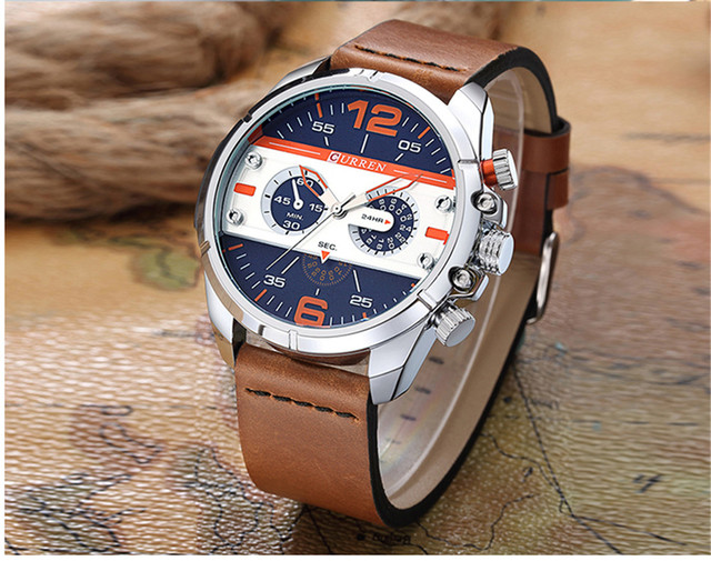 2016 CURREN Hombres Reloj de Cuarzo Relojes de Primeras Marcas de Lujo Famoso Reloj Hombre Reloj Reloj Luminoso reloj Masculino Del Relogio 3