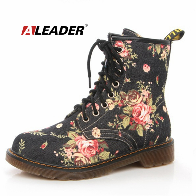 Aliexpress.com : Buy Fashion Ankle Women Boots Floral 2015 Autumn ...