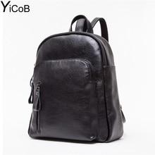 Yicob рюкзаки женщины временно путешествия мода pu кожаные рюкзаки для ipad колледжа школьные сумки для подростков девочек молнии bookbag