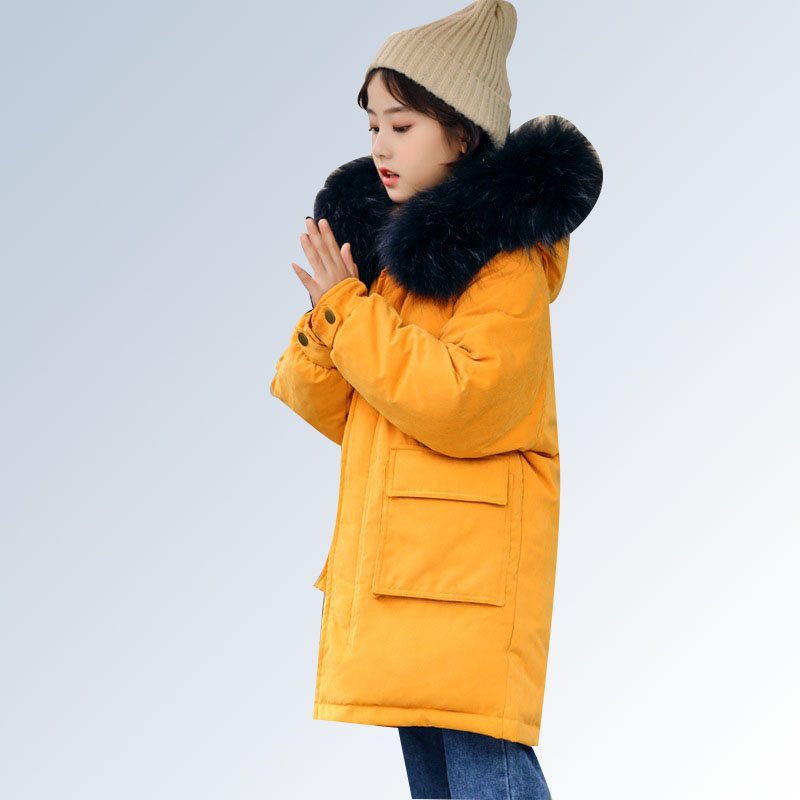 Girls Kids Winter Jacket 2018 Fashion High Quality Children Winter Jacket Duck Down Jacket Winter Coat Fur for 6 8 10 12 14 Year fur jacket rosenberg page hrefhref page 8