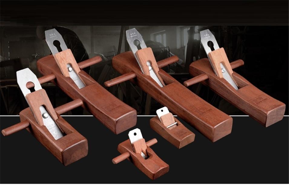 5'\/127mm Hand Planer Cutting Edge Carpenter Hard Woodworking Planer Wood Hand Tools Mahogany