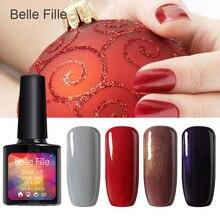 Belle Fille 1Pcs Nail Gel Polish Gel Long Lasting Shining Colorful Gel Nail LED UV Soak-off Hot Sell Nail Gel 20 Colors