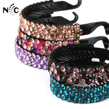 New Arrival 1PC Colorful Rhinestones Hairpin Women Nest Shape Bud Hair Clip Ponytail  Holder Crystal Hair e99c09c312e6