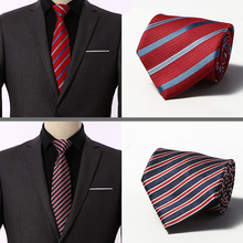 Quality 100% Silk Men Ties Plaid Striped Neck for Classic Wear 8cm wide Business Wedding Party Gravatas