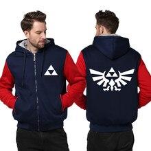 Eua tamanho masculino hoodie engrossar jaqueta link cosplay casaco roupas outono e inverno camisolas casuais