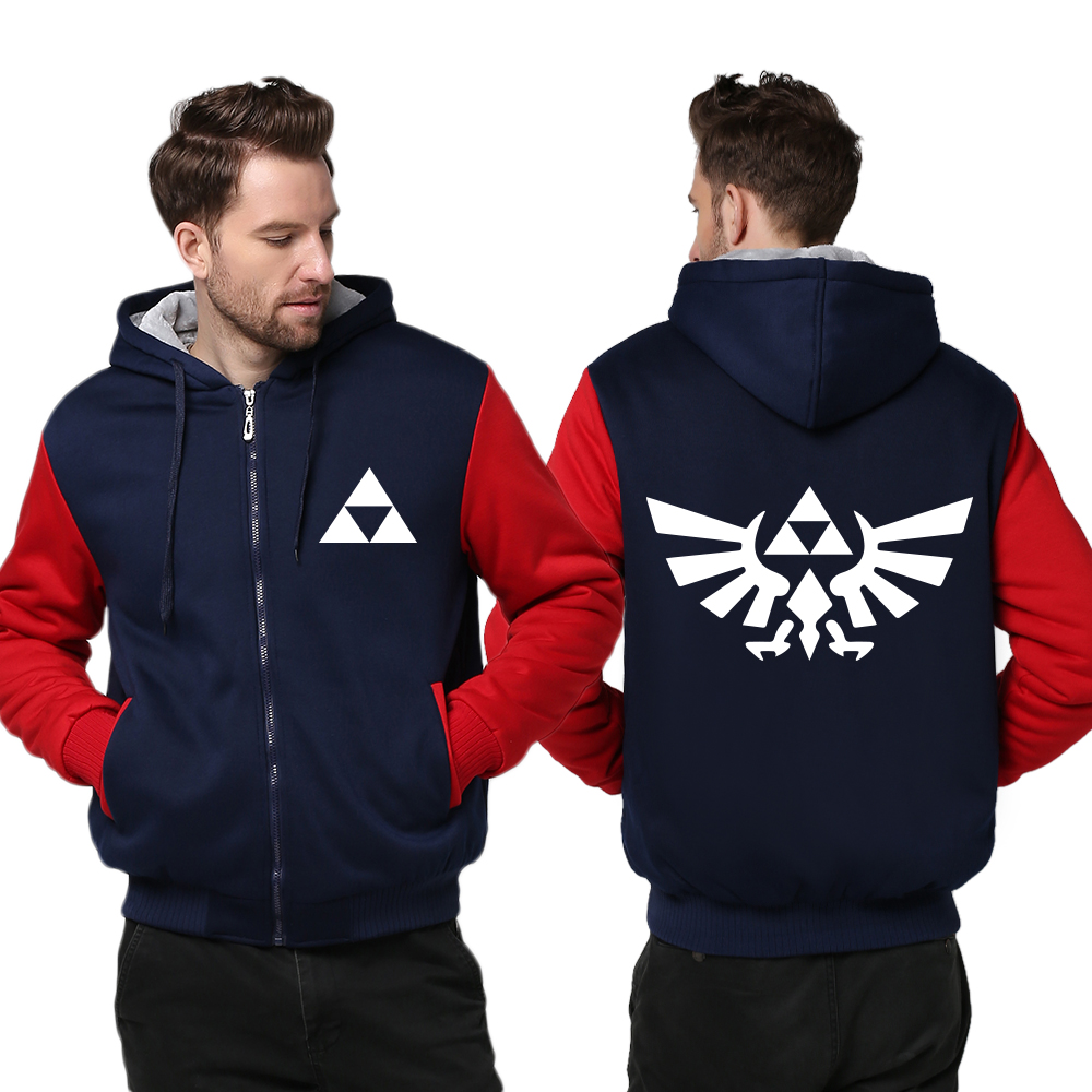 USA size Men The Legend of Zelda Breath of the Wild Hoodie Thicken Jacket Link Cosplay Coat Clothing Casual Sweatshirts