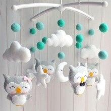 DIY Baby Crib Rattles Holder Bracket Set Clockwork Music Box  Baby Toy Material Package Pregnant Mom Handmade Toys For Baby цена