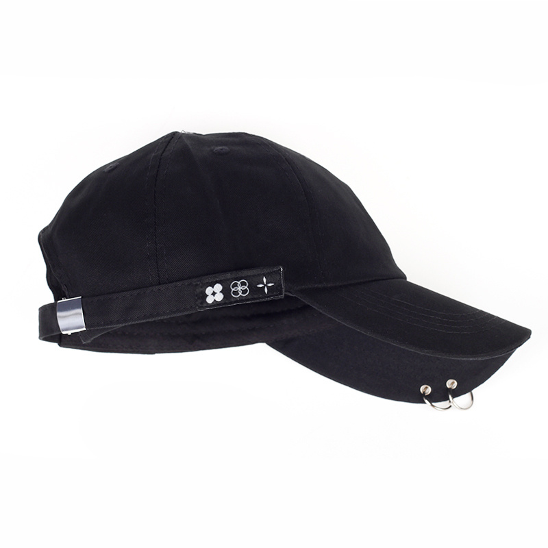 Hot sale 2017 New JIMIN Fashion K POP Iron Ring   baseball   Hats Adjustable cotton   Baseball     Cap   100% Handmade Ring wholesale