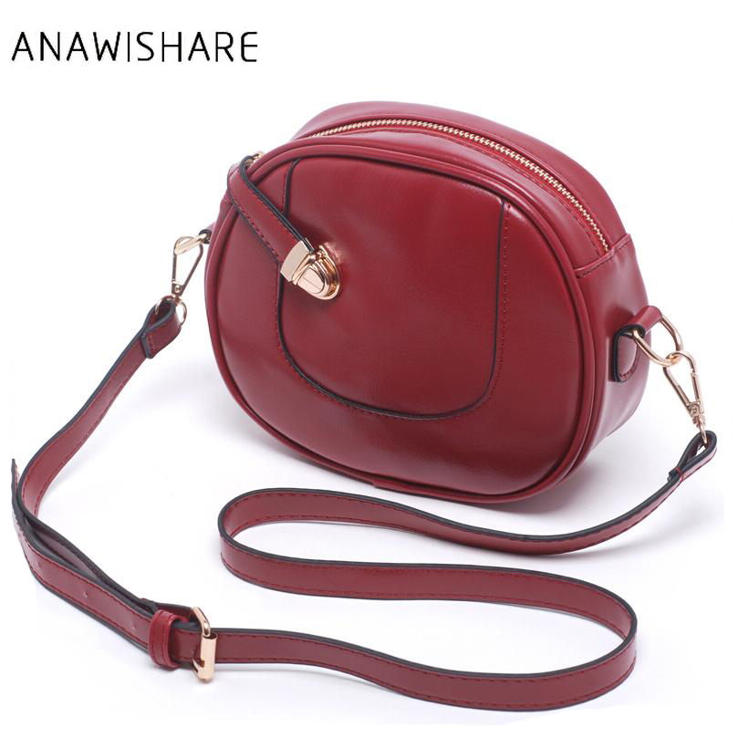 ANAWISHARE 2018 Designer Women Messenger Bags Small Cross Body Shoulder Bag  Pu Leather Black Ladies Small Bags Bolsa Feminina-in Top-Handle Bags from  ... d010b6f4f837e