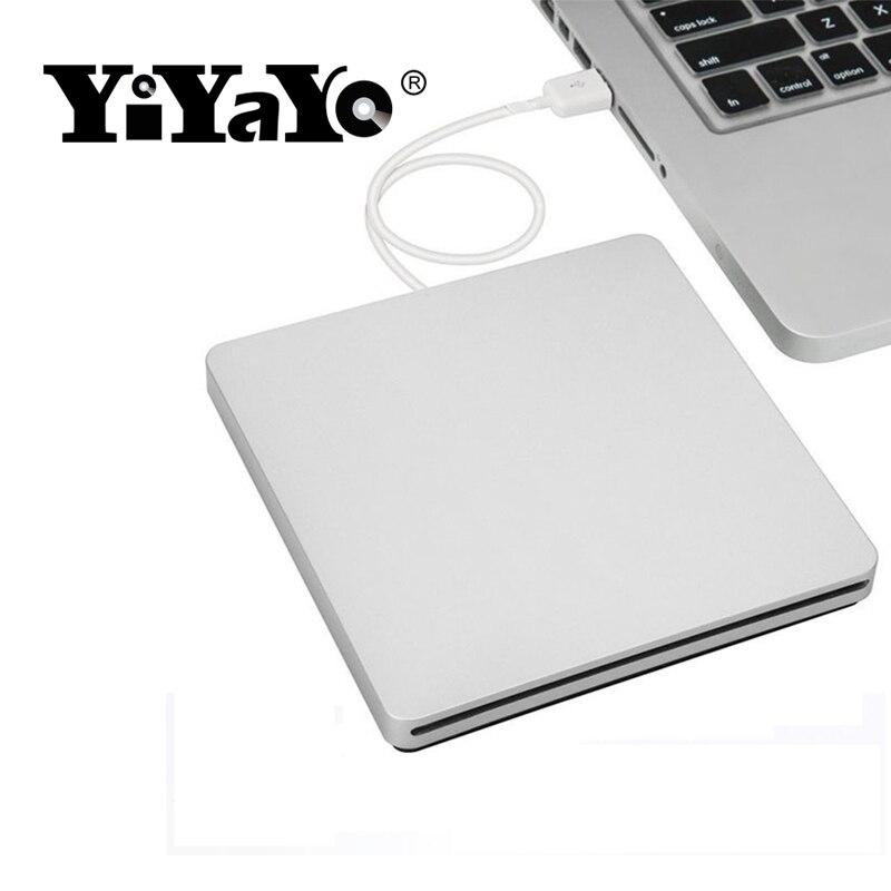 dbfdefbf4 YiYaYo Externo USB 2.0 CD DVD Burner Unidade Óptica DVD ROM Player Portatil  para Desktop   Notebook Gravador de Slot de Carregamento em Drives ópticos  de ...