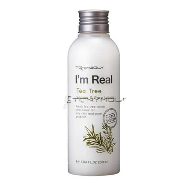 Corea I'm Real de Árbol de Té Poros de Sebo Loción 200 ml Cara Cuidado de La Piel Hidratante Esencia Hidratante de Gran Alcance de control de Sebo loción