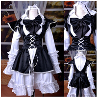 Helloween costumes for women adult lolita dress medieval renaissance dress servant maid cosplay costume anime clothes