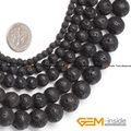 """Round Black Lava Rock Beads,Selectable Size 4mm To 20mm,Fashion DIY Beads,Natual Stone Beads,Strand 15"""" Free Shipping"""