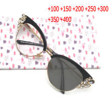 5389e3ffdb High-grade crystal reading glasses fashion women sun photochromic reading  glasses resin gray lens diopter reading glasses NX