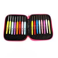 DoreenBeads Nhựa Crochet Hooks Multicolor Needles Weave Sợi Dệt Kim Craft Trường Hợp Set Kit Với Trường Hợp, 13.2 cm (5 2/8
