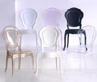 Европейский стиль принцесса прозрачный обеденный стул кресло кристалл акриловые стулья для кафе творческий досуг пластик Банкетный стул