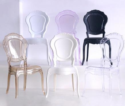 € 244.35 |Silla de comedor transparente de princesa de estilo europeo,  silla acrílica de cristal para café, silla creativa de ocio y plástico ...