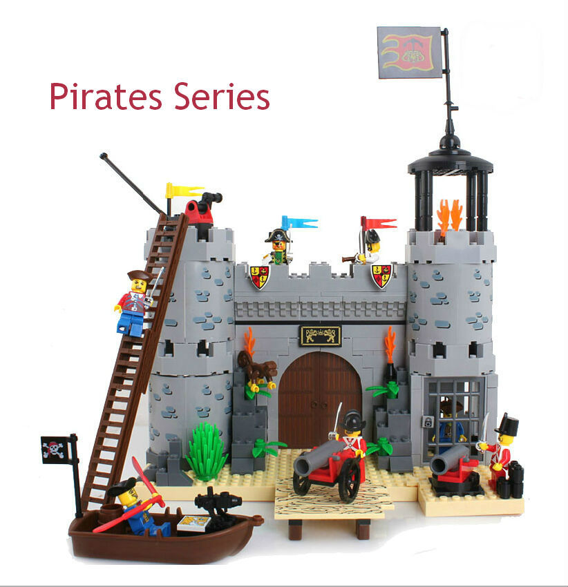ФОТО Enlighten 310 Educational DIY Pirates Series Corsair-Rob Barrack 366pcs Assembles Particles Building Blocks Bricks Gift diy toys