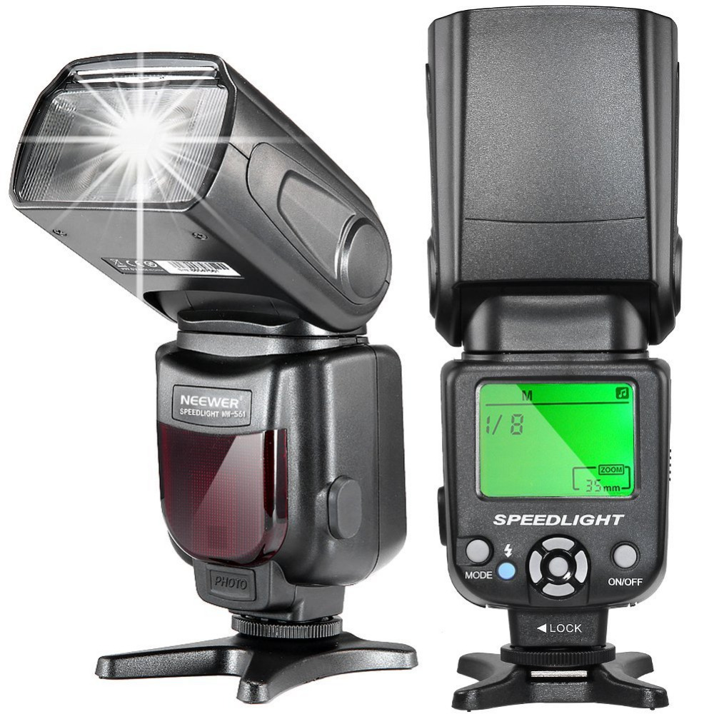 Neewer NW-561 LCD Display Speedlite Flash for Canon 6D/60D/700D/Nikon D7100/D90/D7000/Other DSLR Cameras with Standard Hot Shoe d