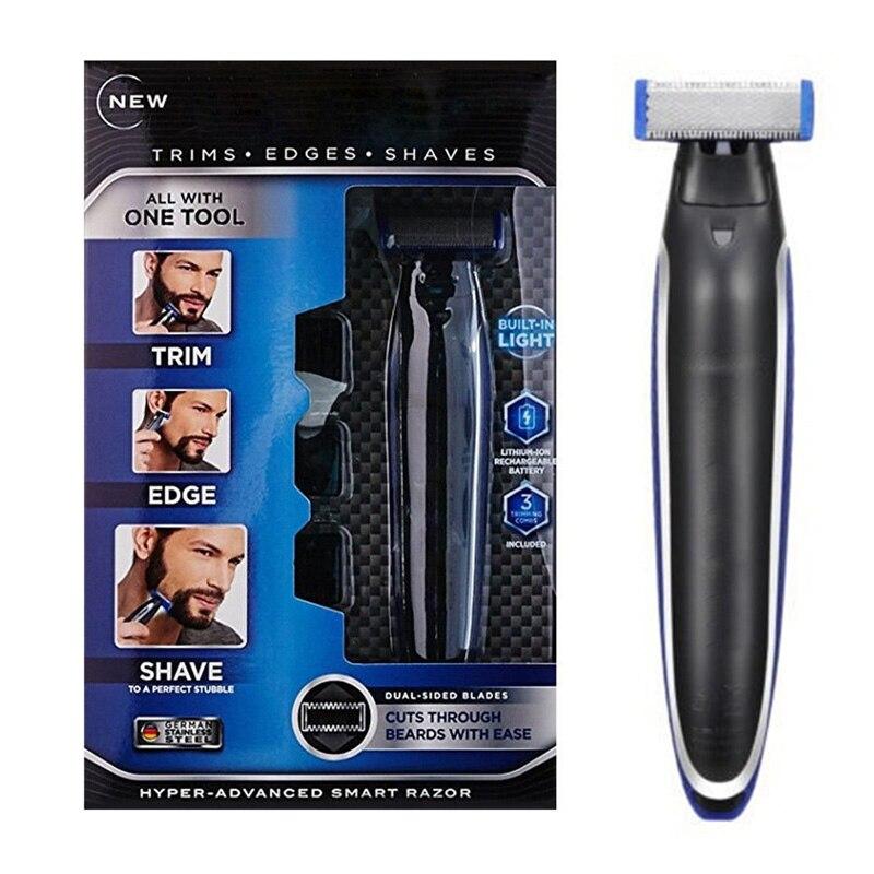 Multifunción recargable afeitadora Peronal pelo limpieza afeitadora cortapatillas y bordeadora hiper-avanzada táctil suave maquinilla de afeitar para los hombres