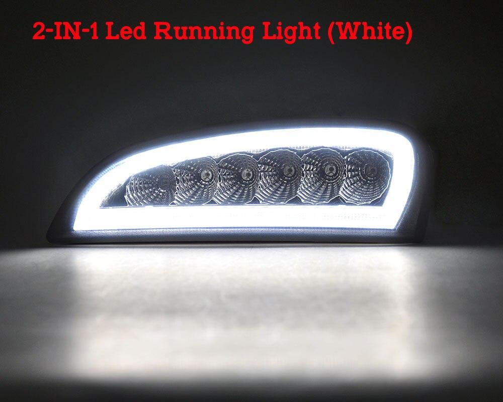 Estrella superior 12 W 2 unidades Led luces de funcionamiento del día, lámpara antiniebla frontal para coche DRL con función de luz ámbar para Honda CRV 2012 2014 - 4