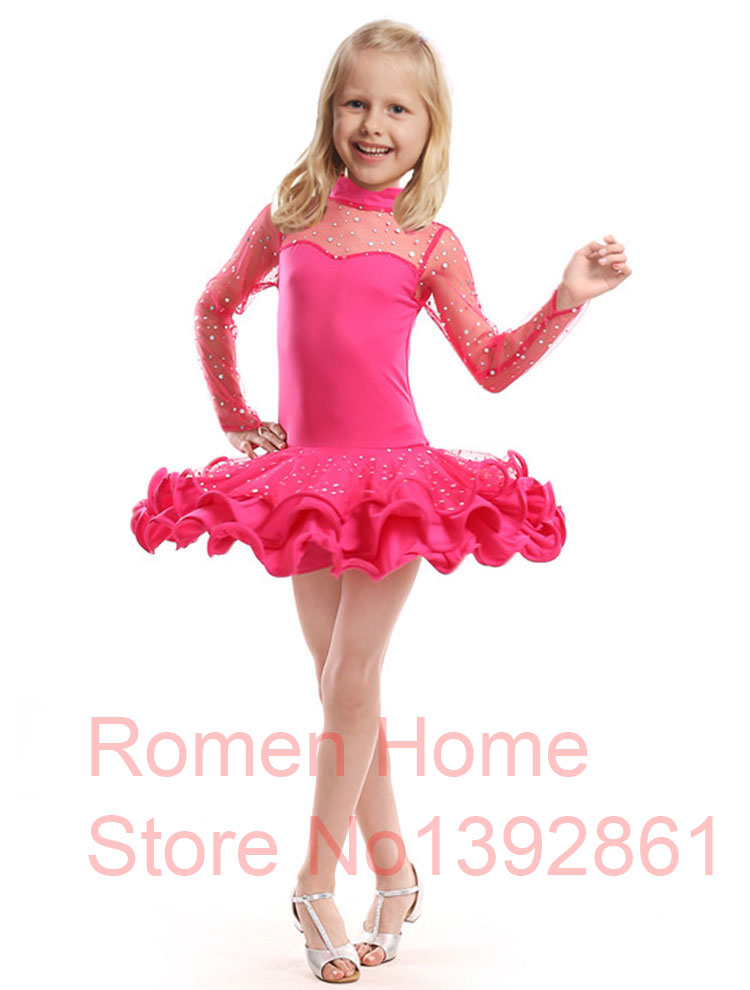 Children Girl Latin Dance Dress Kids For Girls Ballroom Dresses ...