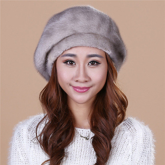 2016 Discount Lady's the new mink fur mink hat knit cap children winter thickening warm winter hat free shipping/3color.#SD20