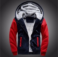 2016 Wool Liner Men S Hooded Winter Outwear Patchwork Warm Men Sweatshirts Tracksuits Sports Hoodies Sportswear