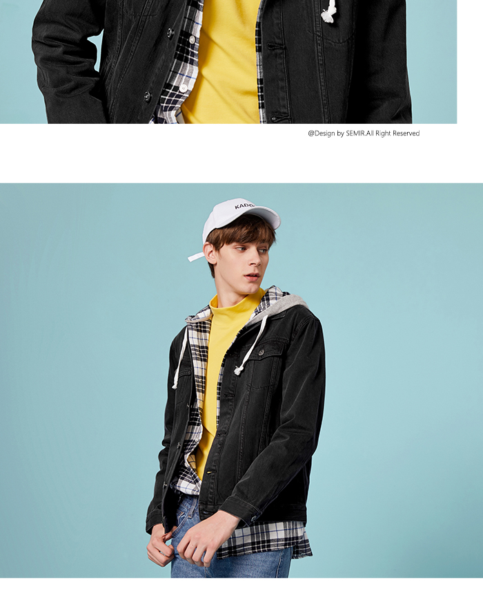 HTB1P1ufaUGF3KVjSZFvq6z nXXa9 SEMIR Men Denim Jacket Men Washed Denim Jacket Classic Denim Jacket with Collar for Men Casual Fashion Spring Autumn Clothes