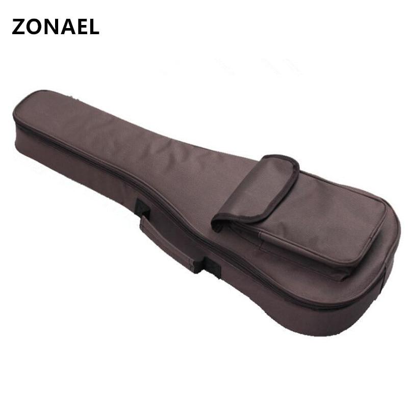 ZONAEL 21 23 26 Inch Soprano Ukulele Waterproof Guitar Cover Gig Bag Soft Case Uke Ukelele Guitarra Double Shoulder Straps