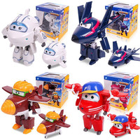 Big 15cm ABS Super Wings Deformation Airplane Robot Action Figures Super Wing Transformation Toys For Children
