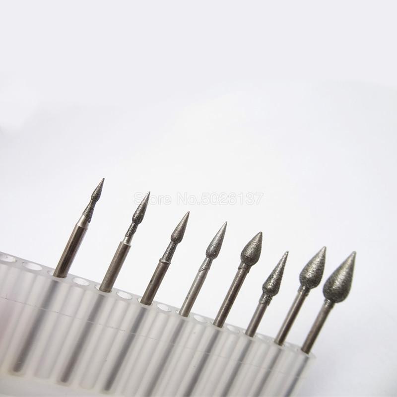 1 Pcs J Bentuk Diukir Grinding Mill Alat Emery Kepala untuk Rotary Alat Aksesoris Mesin Ukiran Set Power Diamond Duri mata Bor