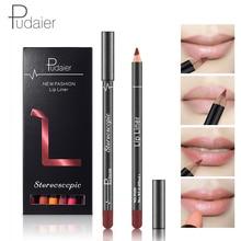12 unids / set Mate Liner Labial Maquillaje Pluma de Lápiz Labial de Terciopelo Rojo para Lipgloss Shimmer Labios maquiagem profissional completa